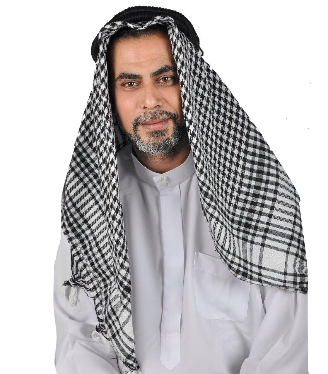 Kopfbedeckung Scheich Arabische Männer Kopfbedeckung Karneval Fasching