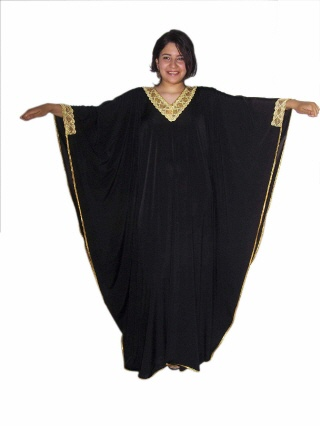 Damen Kaftan- Kleid im Butterfly Look