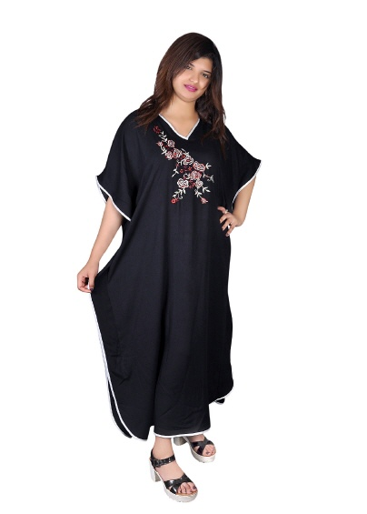 Damen Kaftan - Kleid im Butterfly Look