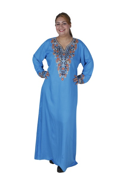 Damen-Kaftan in türkis