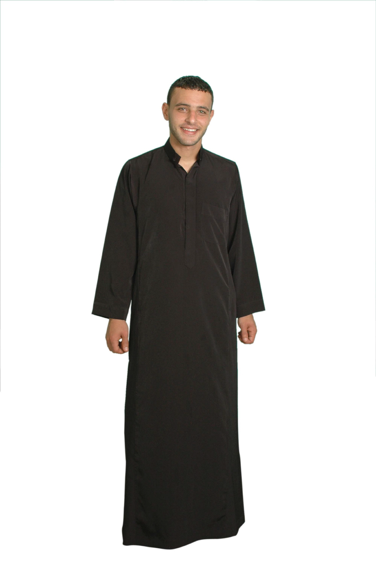 Herren-Kaftan im Saudi Style in schwarz- Arabische Herren Kleider