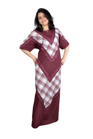 Damen Kaftan in bordeaux