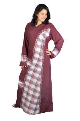 Fraun Kaftan in bordeaux