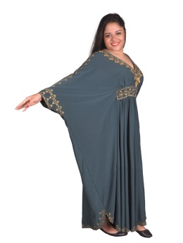 Damen Kaftan Orient in Petroleum