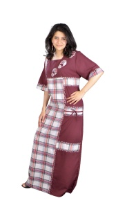 Damen Kaftan in weinrot