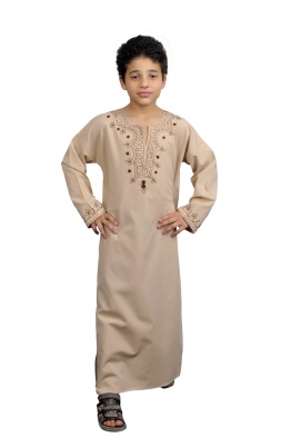 Kinder-Kaftan in beige