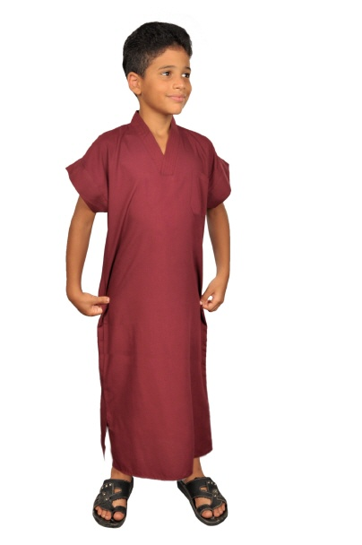 kinder kaftan in weinrot