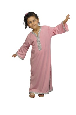 Kinder Kaftan in rosa