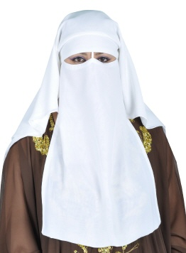 Niqab in weiss