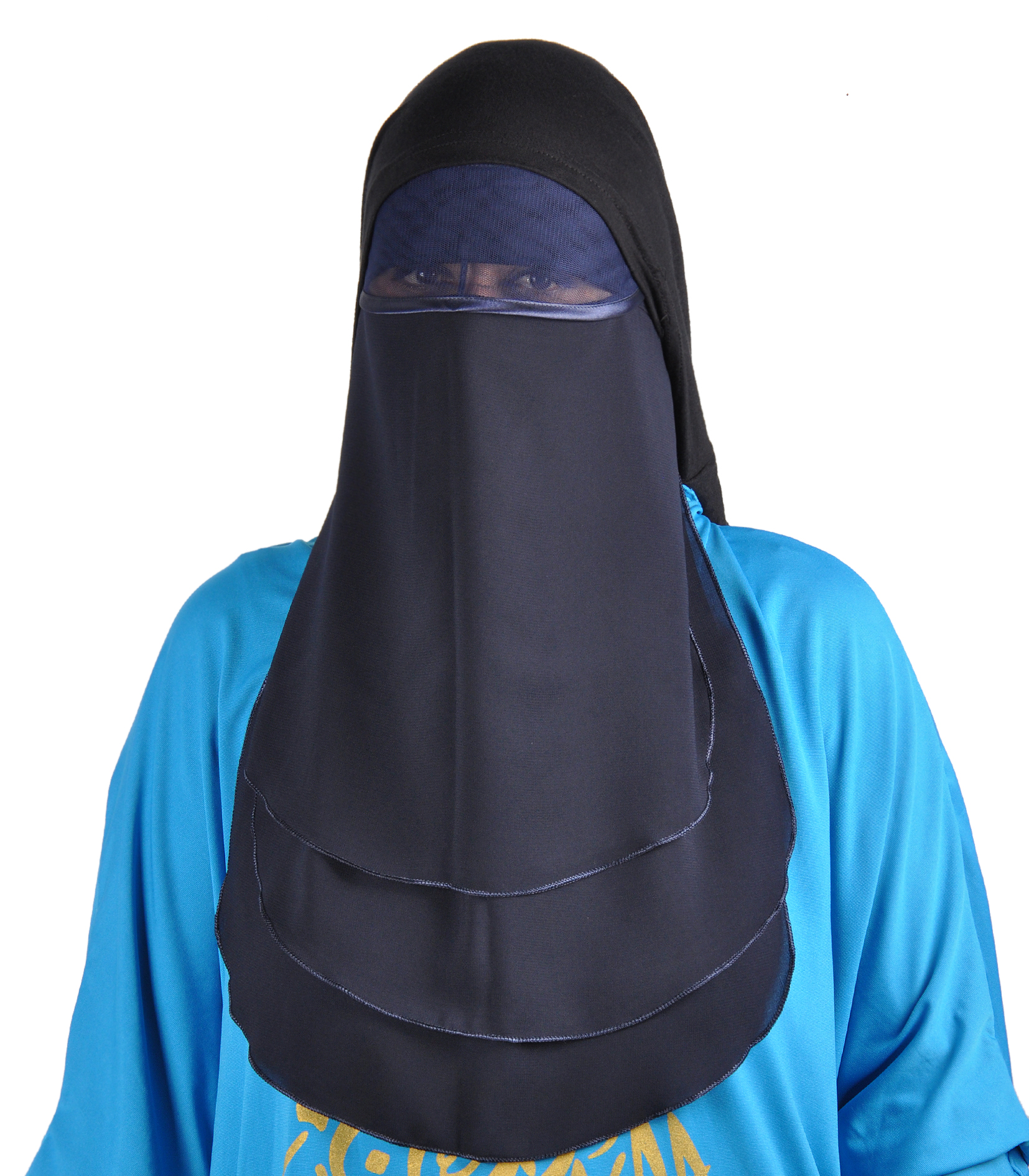 niqab gesichtsschleier nachtblau hijab online kaufen egypt bazar shop. Black Bedroom Furniture Sets. Home Design Ideas