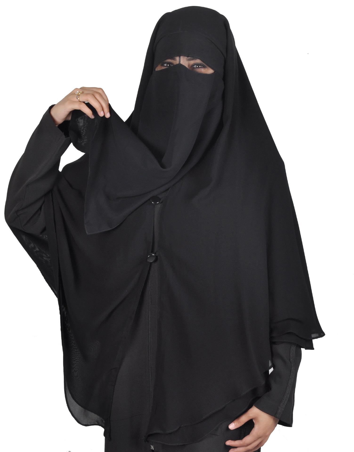 niqab khimar kombi schwarz hijab online kaufen egypt. Black Bedroom Furniture Sets. Home Design Ideas