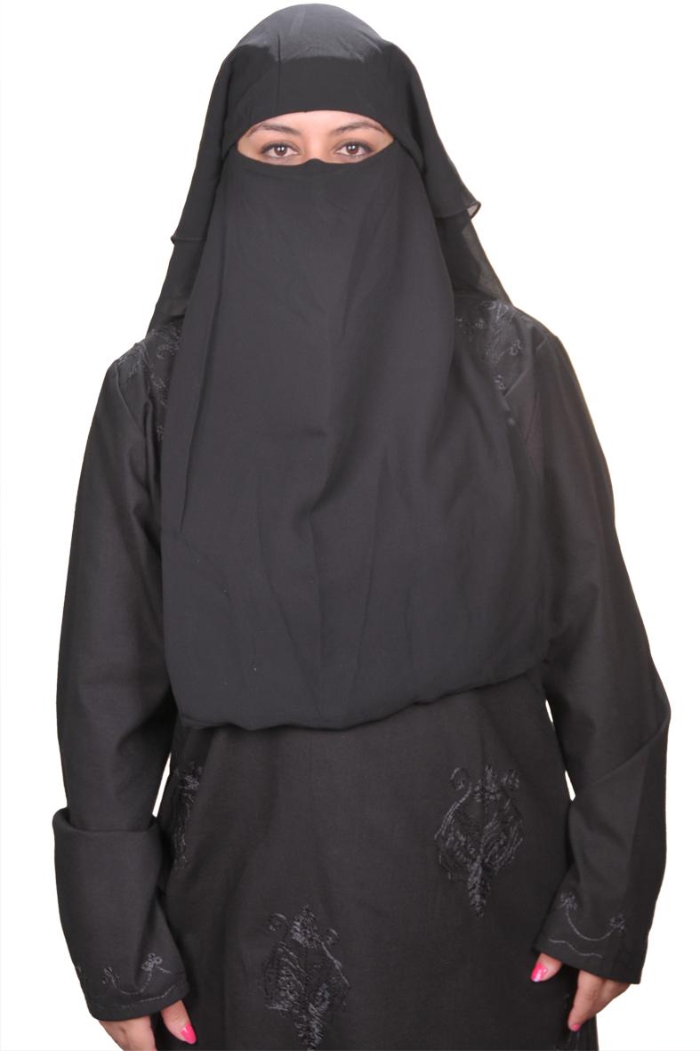 Niqab- Gesichtsschleier-schwarz Hijab online kaufen- Egypt ...