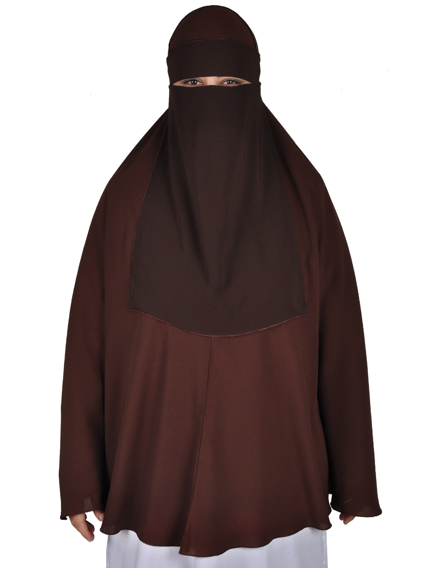 niqab gesichtsschleier braun hijab online kaufen egypt bazar shop. Black Bedroom Furniture Sets. Home Design Ideas