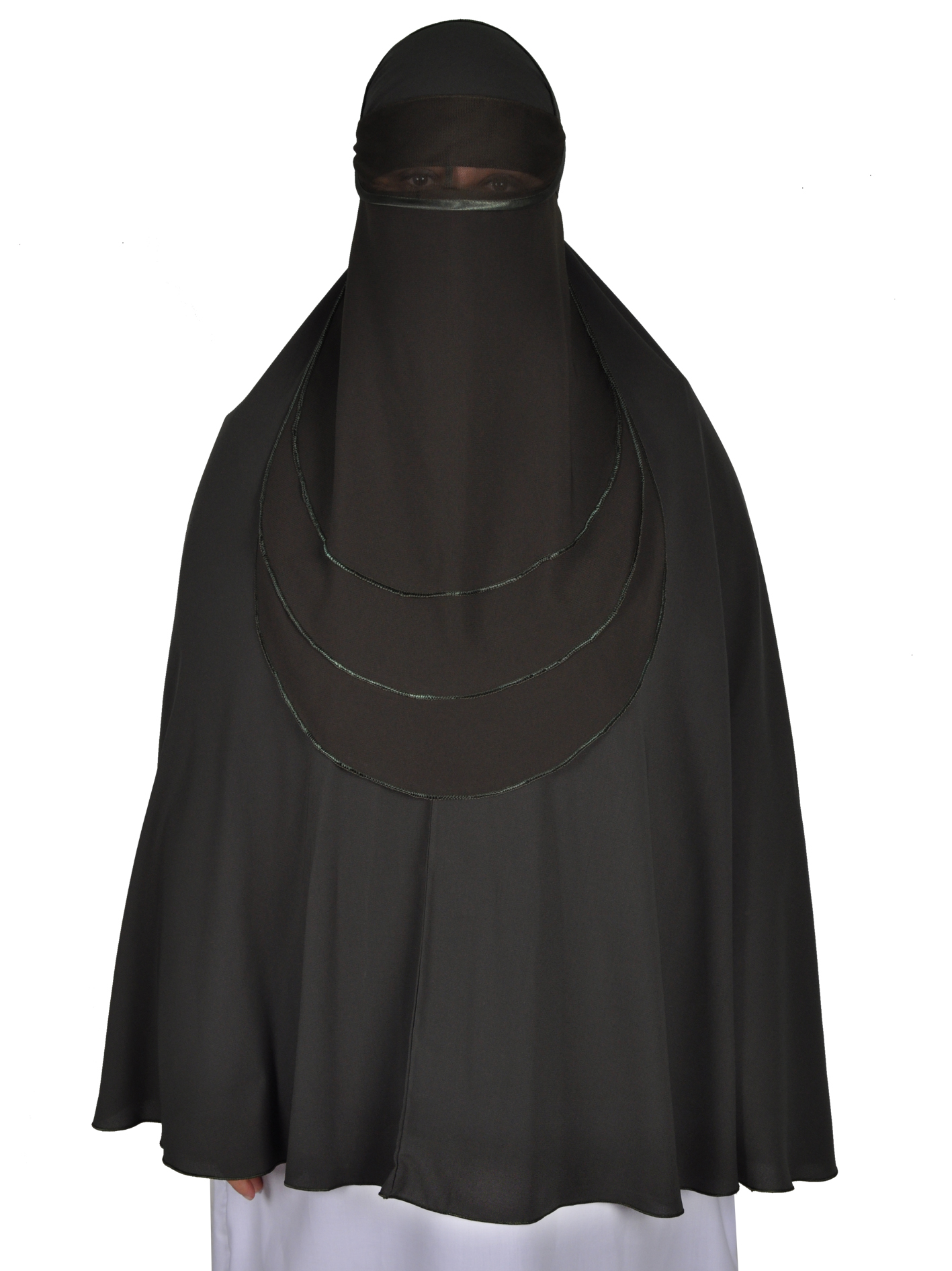 niqab gesichtsschleier olivgr n hijab online kaufen egypt bazar shop. Black Bedroom Furniture Sets. Home Design Ideas