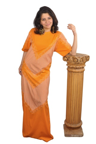 Frauen kaftan orange