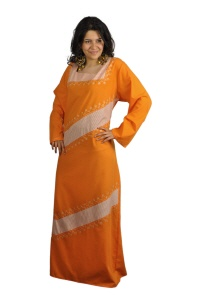 kaftan in orange
