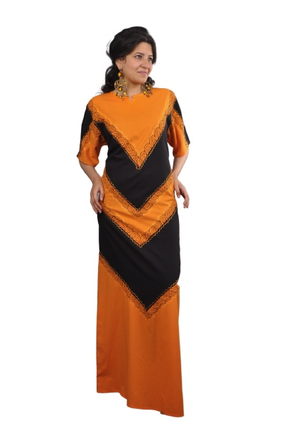kaftan orange-schwarz