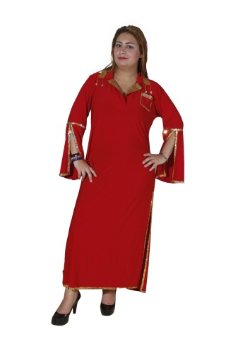Bauchtanzkostüm-Stocktanzkleid in rot