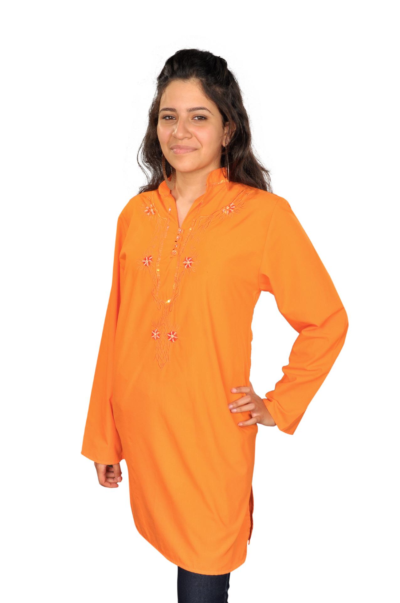 Damen Tunika in orange - Tuniken günstig kaufen