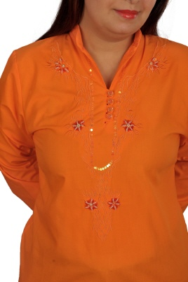 orientalische-damen-tunika orange